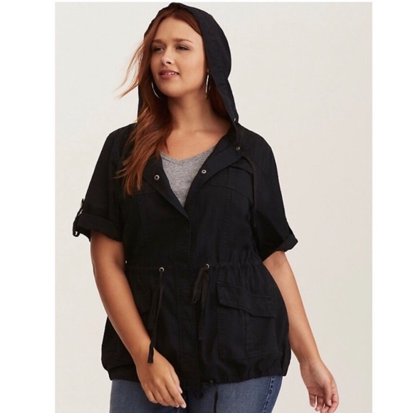 torrid Jackets & Blazers - 💋Torrid Linen black Anorak jacket Sz 2X